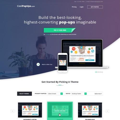 Designed a Website for Popups