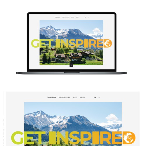 Webdesign for a company active in the segment of educational travel
