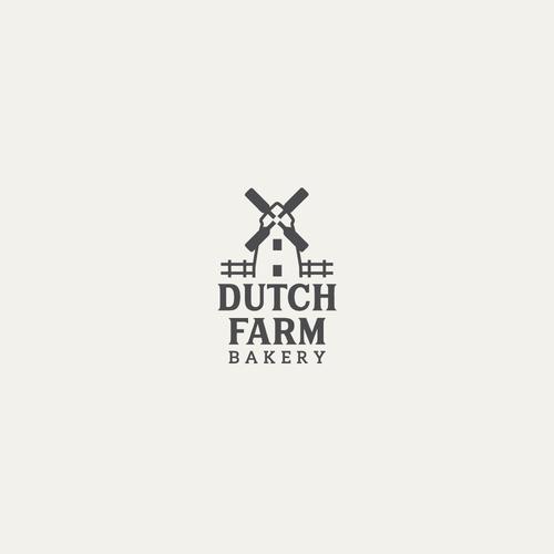 Bold logo from bakery