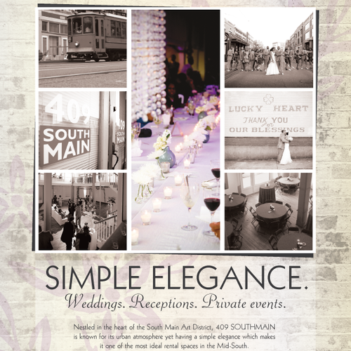 Print AD for Wedding Venue 409 South Main