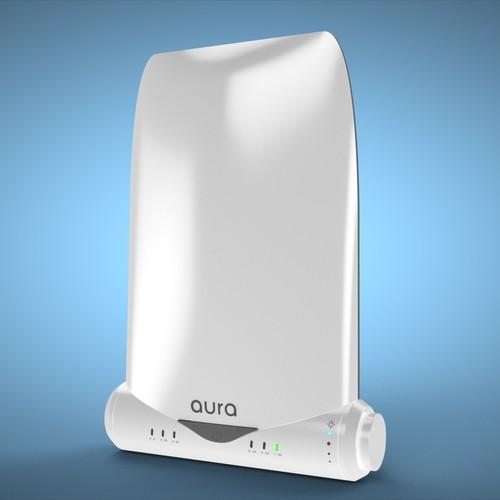 3D render for Aura light lamps