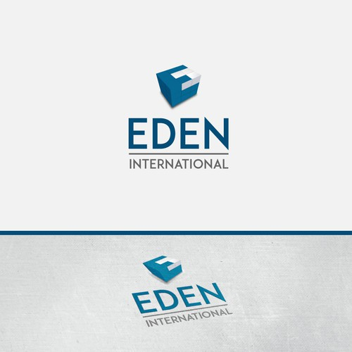 E cube logo concept for an international company