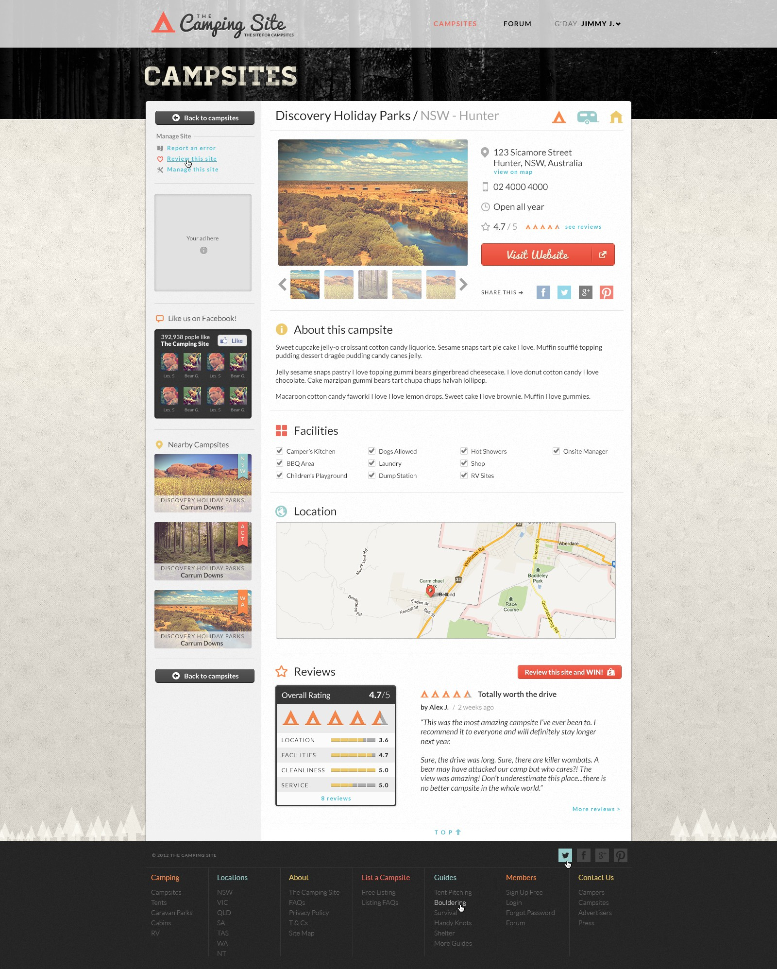Creative Design Needed For New CampingWebsite