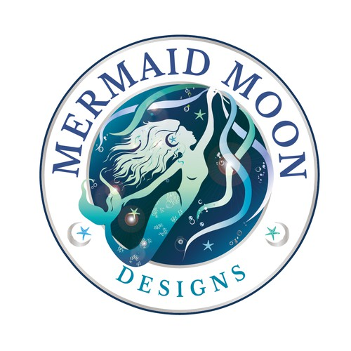 Mermaid Moon Logo design