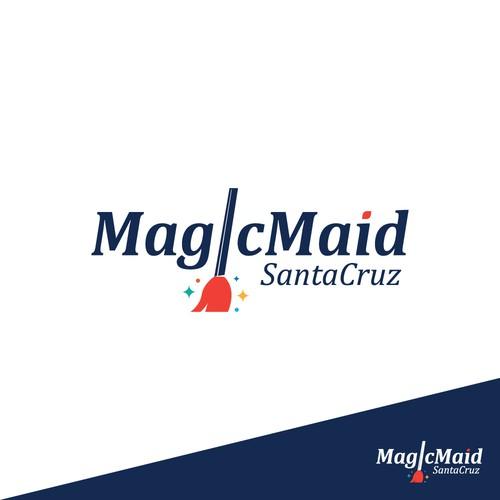Logo design concept for MagicMaid contest.