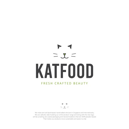 Logo for an innovative food-based skincare brand