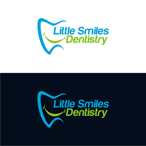 Design a cute and modern logo for a pediatric dental office