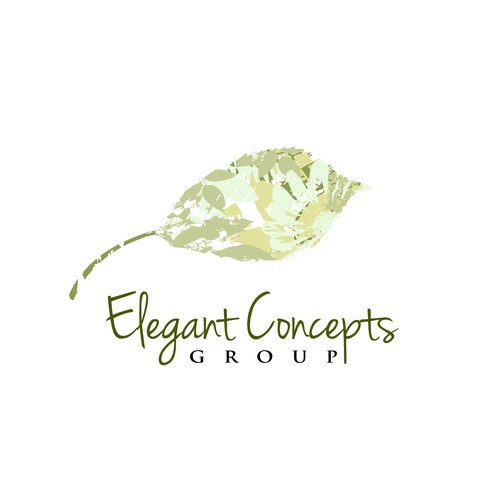 Create the next logo and business card for Elegant Concepts Group