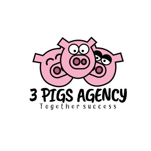 3 Pigs Logo & Design Framework