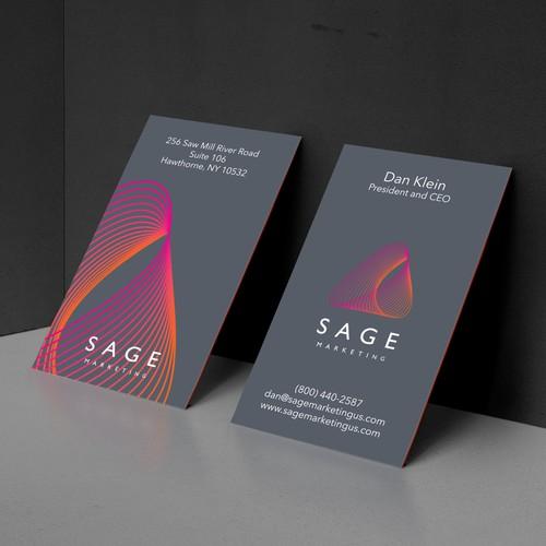 Business Card Design Concept For Sage Marketing