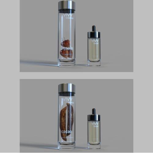 Bottle design for cosmetic product