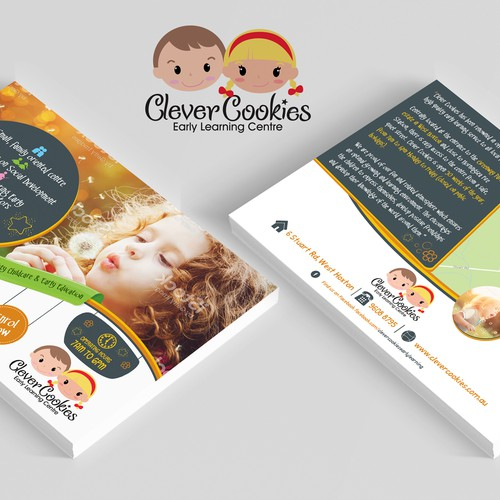Clever cookies Postcard Flyer Design