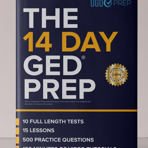 Book cover for ged prep book