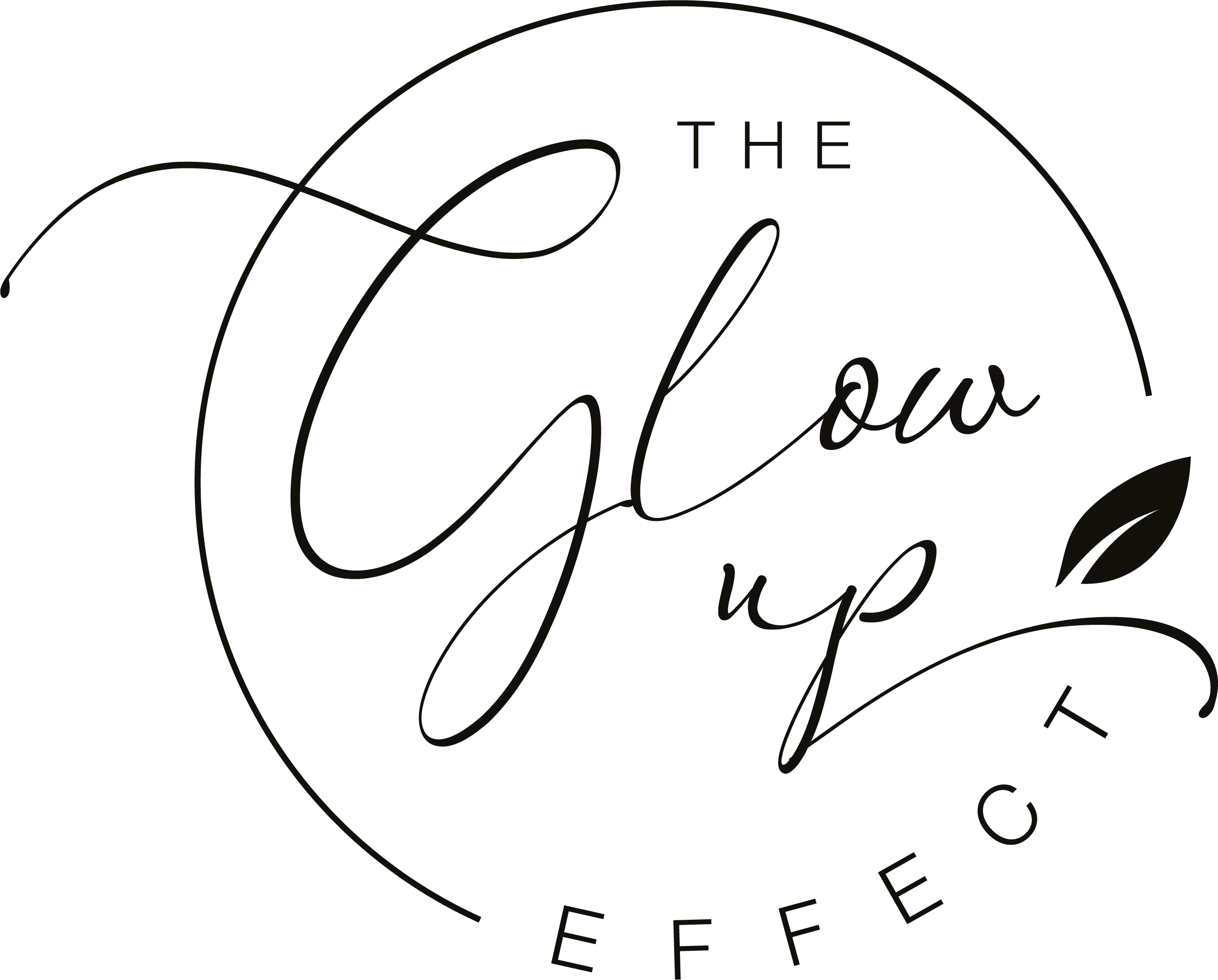 Sleek, clean GLOWING logo for a social media influencer brand