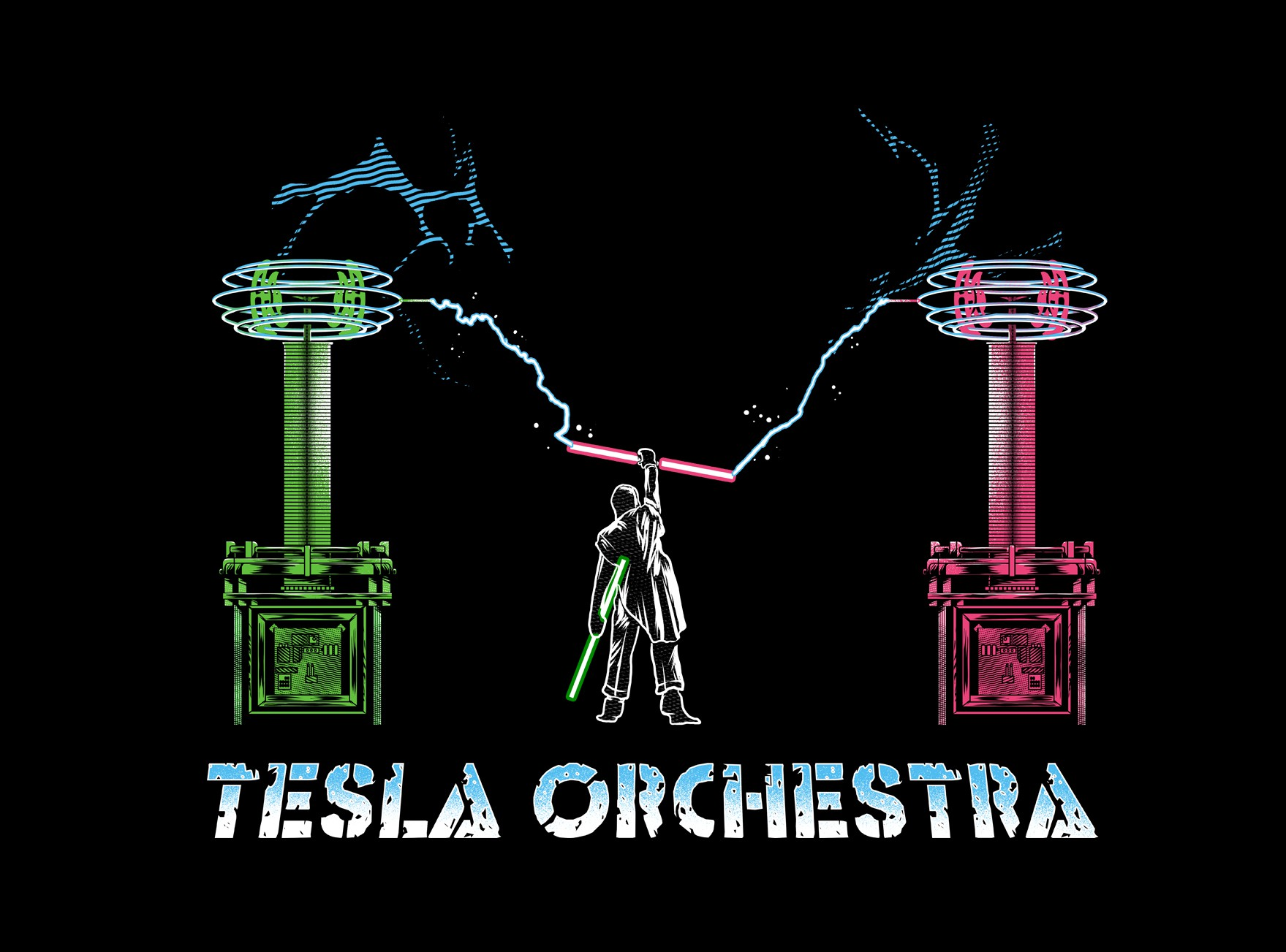 T-Shirt design for tesla coil group