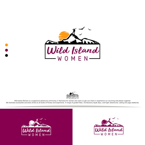 Wild Island Women Tasmania Concept Logo