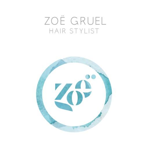 Edgy logo, busines card, & website for a NYC Hair Stylist who loves European design