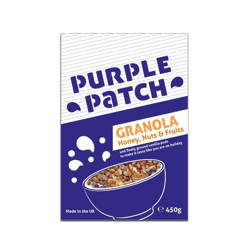 Packaging design for breakfast granola