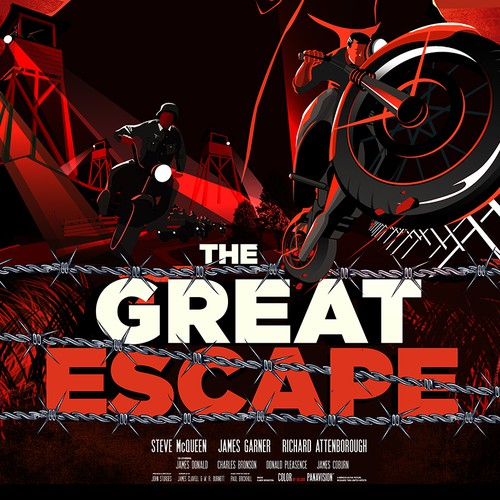 """""""The Great Escape"""" Movie Poster. A John Sturges Film"""
