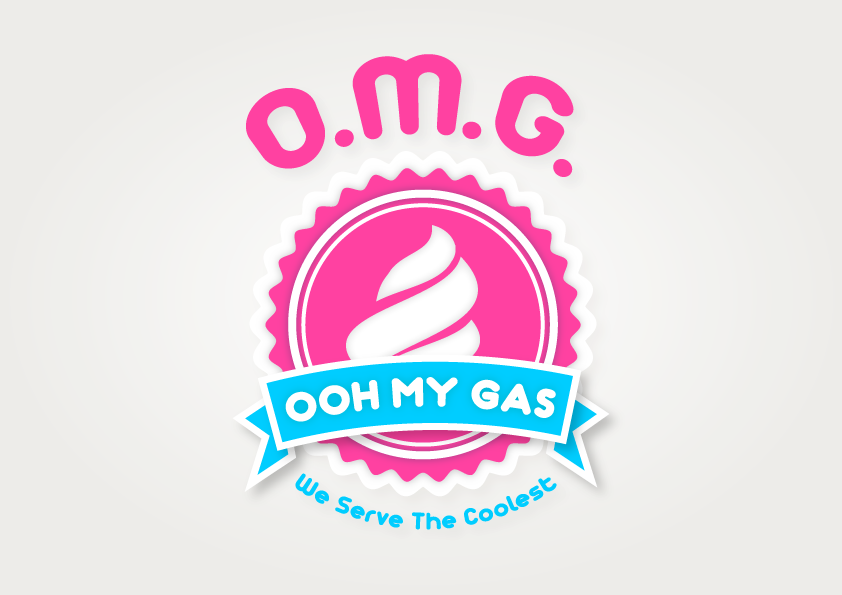 Create the next logo for OOH MY GAS - O.M.G!