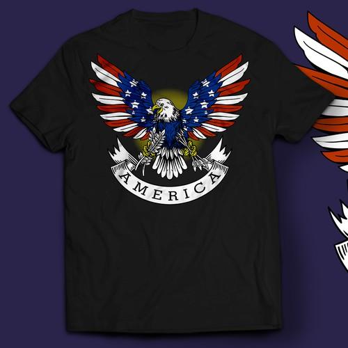 MENS VINTAGE Patriotic! GRAPHIC TEES