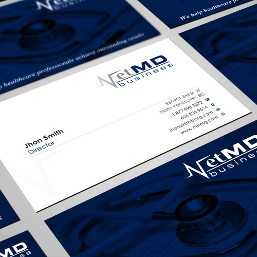 business card for NetMD Business, Inc.