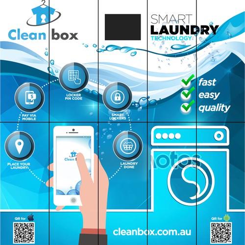 Sticker for Smart Laundry Lockers