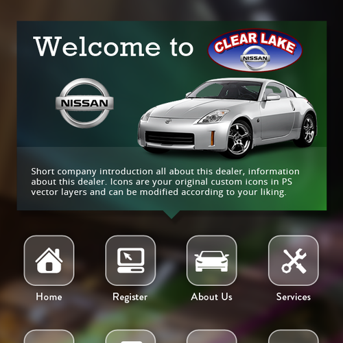 Automotive Kiosk UI Design