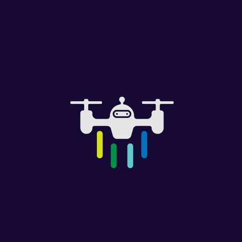 playful and clean drone logo for dronbot production llc