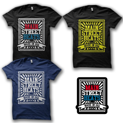 Create the next t-shirt design for Main Street Beats