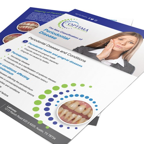 Lettersize Flyer for Optima Dental Care