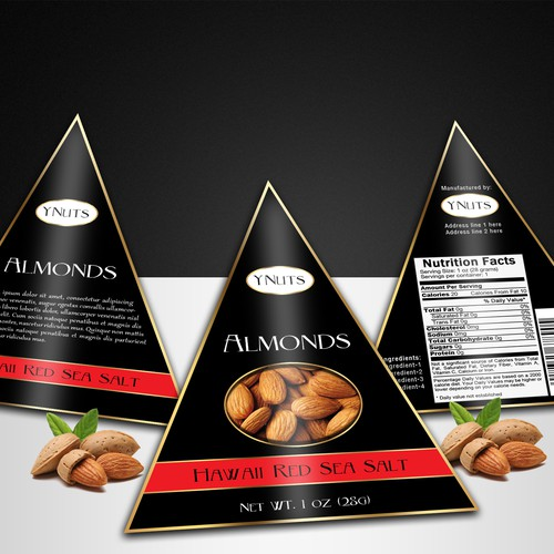 Triangular Packaging for Almonds