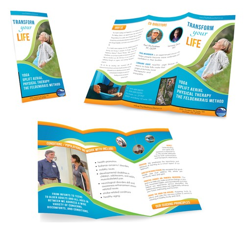 Transform your life; a beautiful brochure for The Wellness Station
