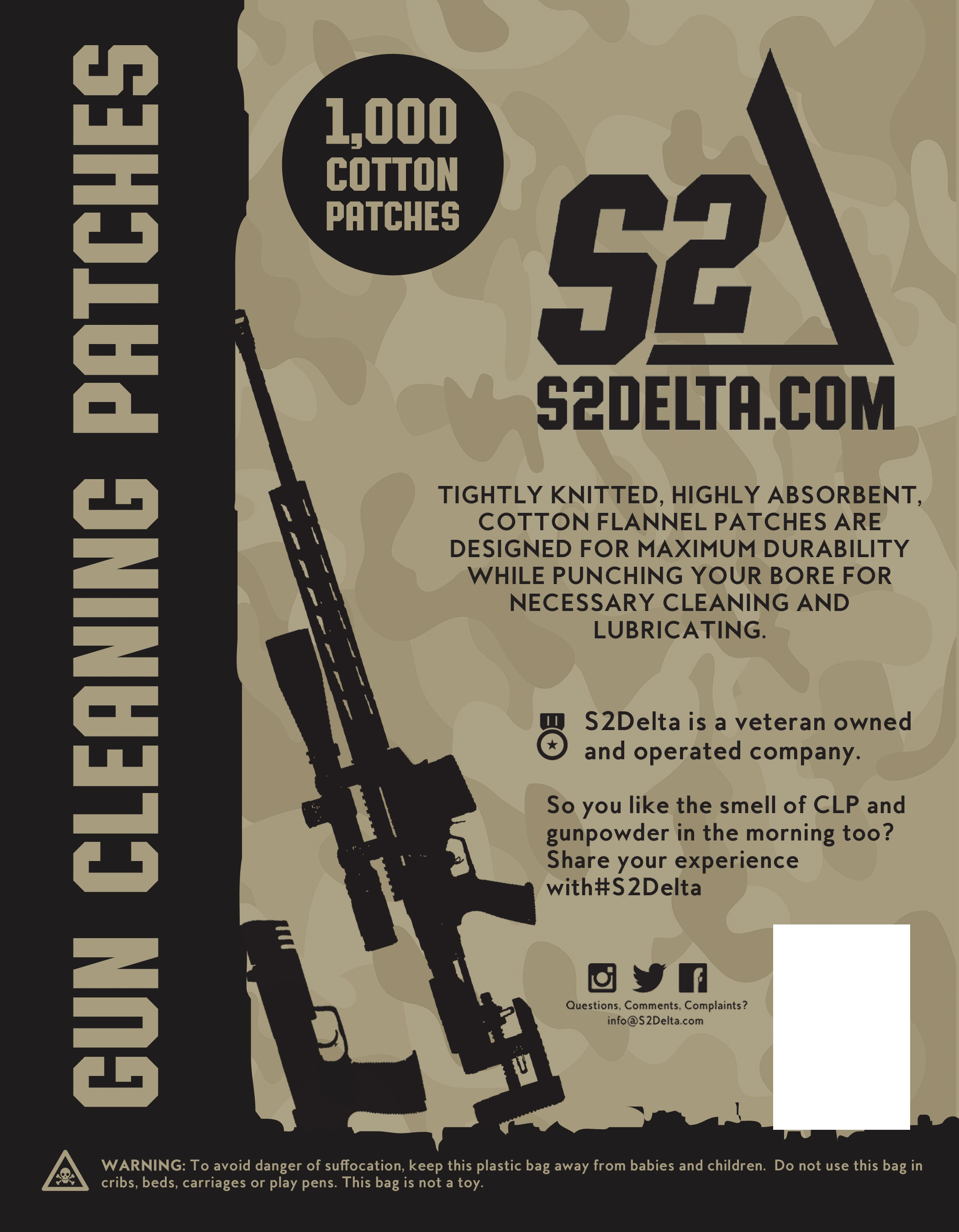 S2Delta gun cleaning package packing design