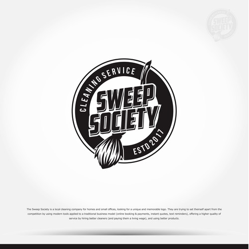 Retro Logo for Sweep Society