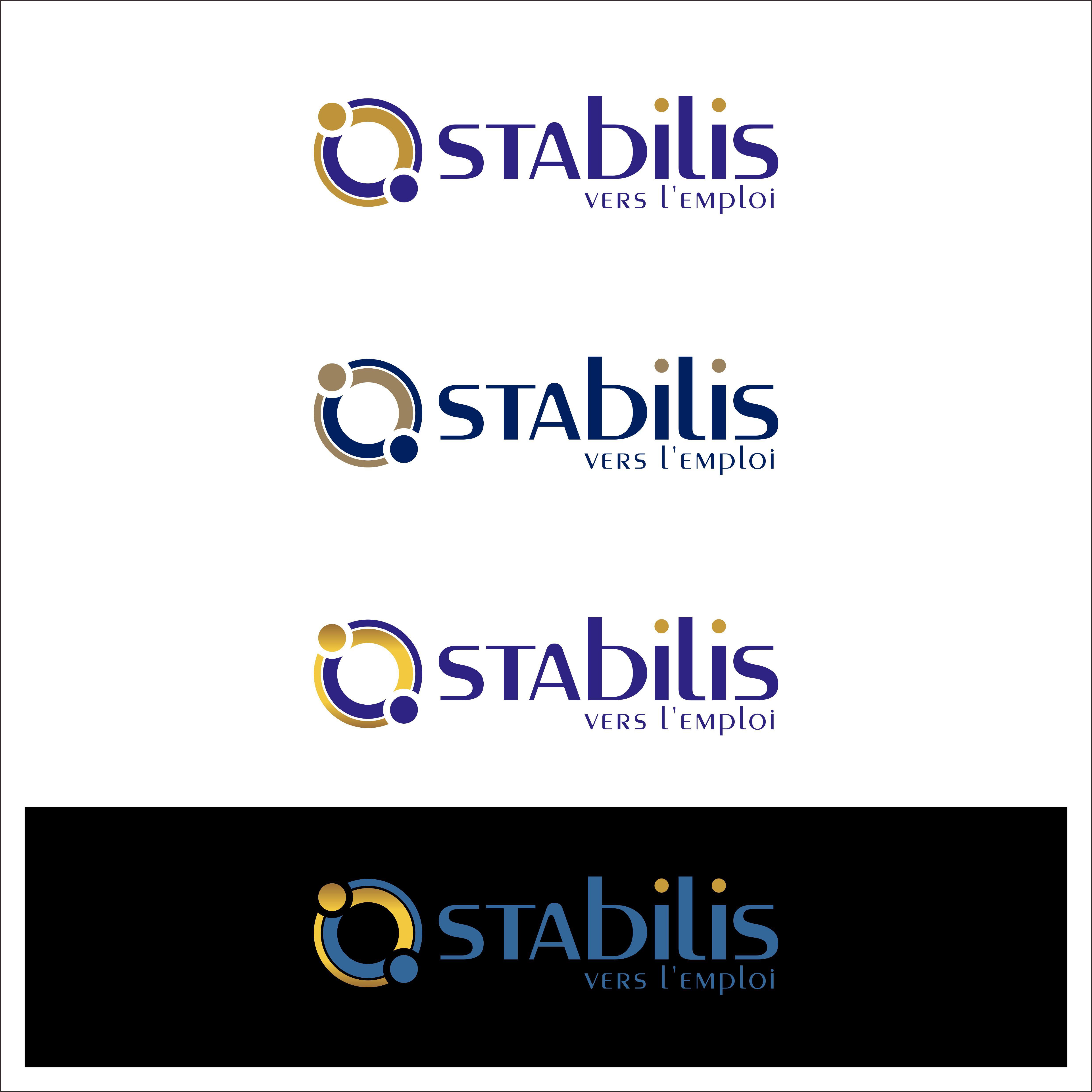 Créer pour Stabilis un logo donnant l'image d'un service simple par une entreprise performante