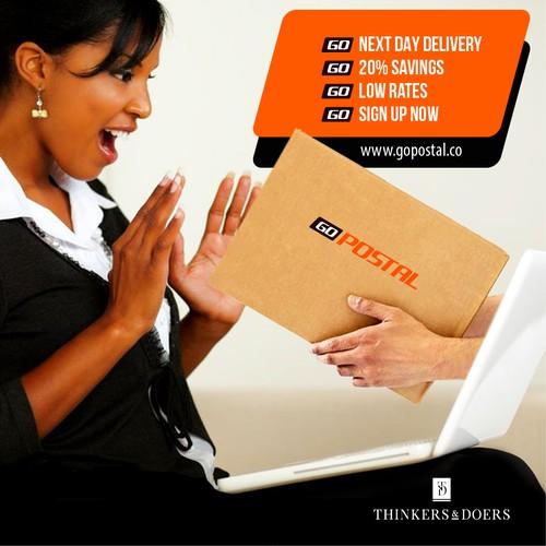 Go Postal Facebook ad design