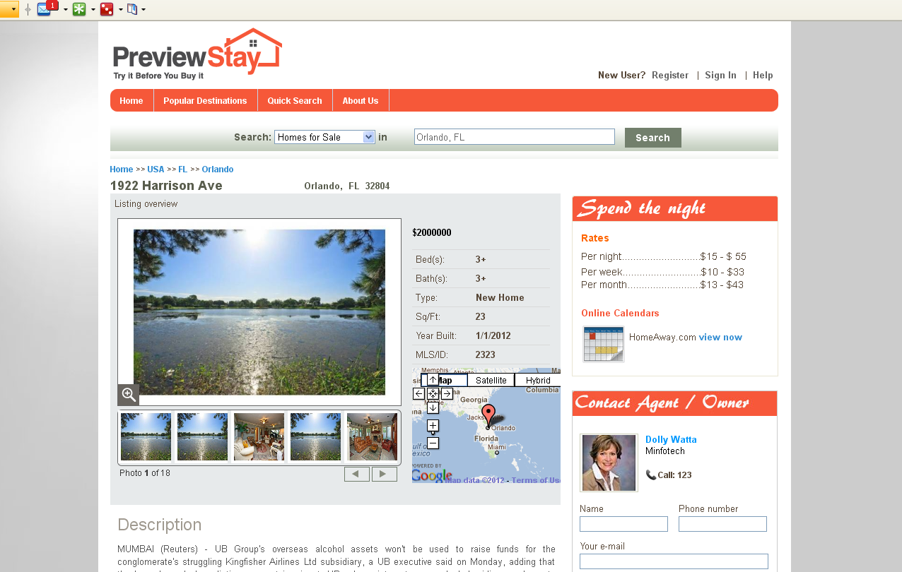 Real Estate logo -  PreviewStay.com - I Need an Awesome Design!!!