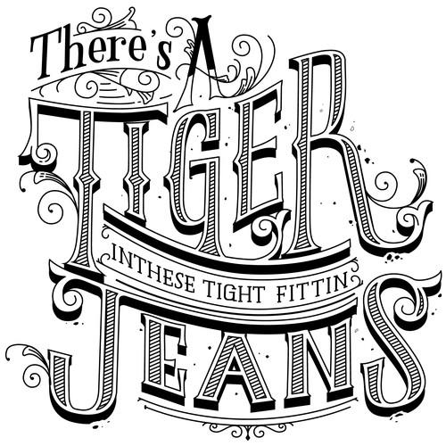 Lettering T-shirt design