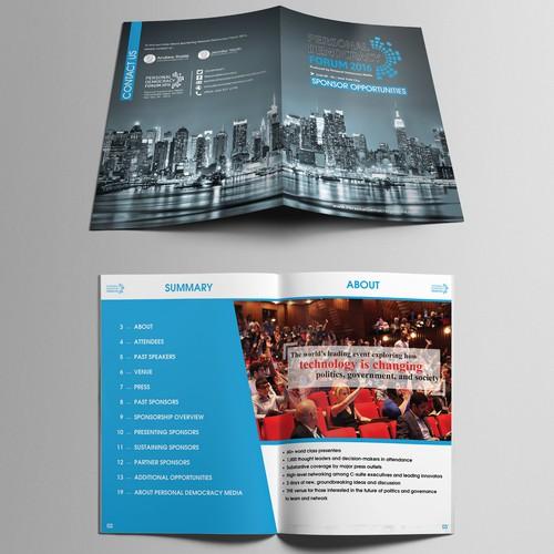 brochure for magazine