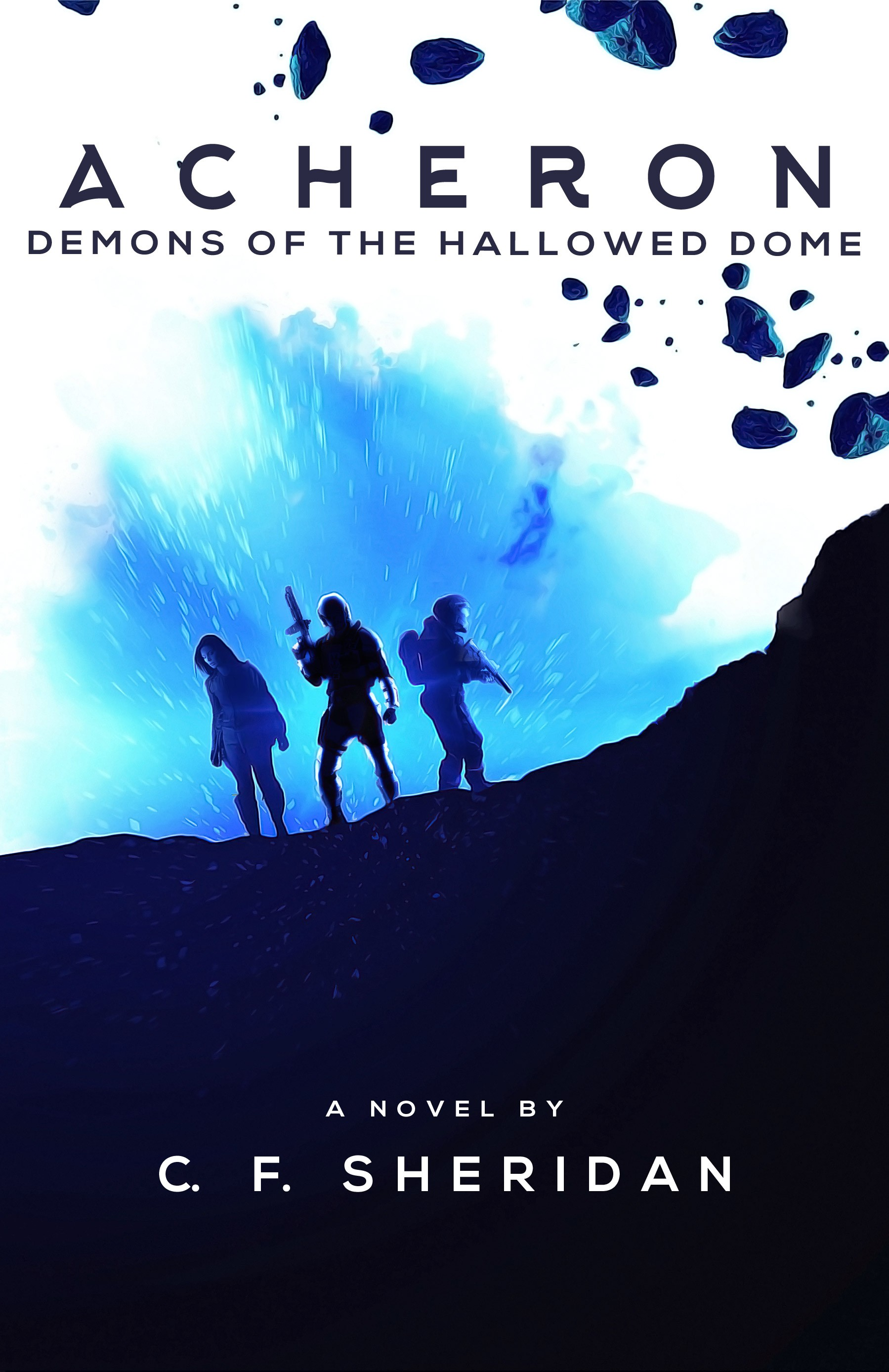 Create a sharp and stylish cover for a science fiction/space opera novel.