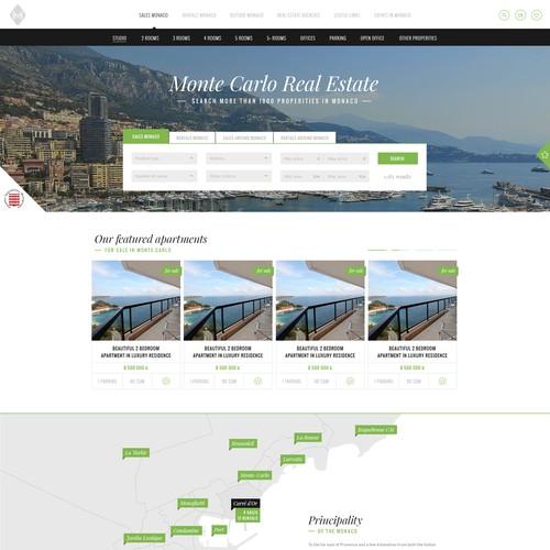 Design concept for Monte Carlo Real Estate
