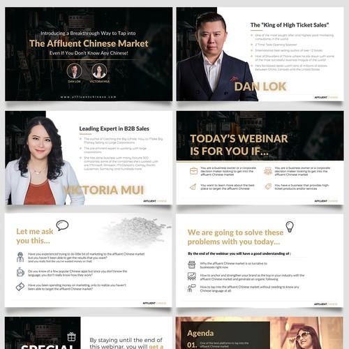 Digital Marketer needs a clean PPT design for a Webinar