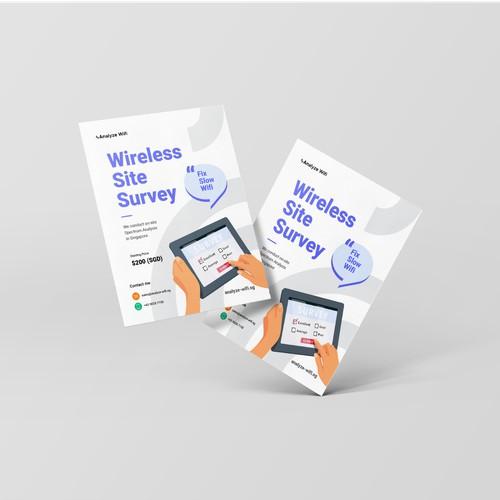 Flyer Design for Analyze Wifi