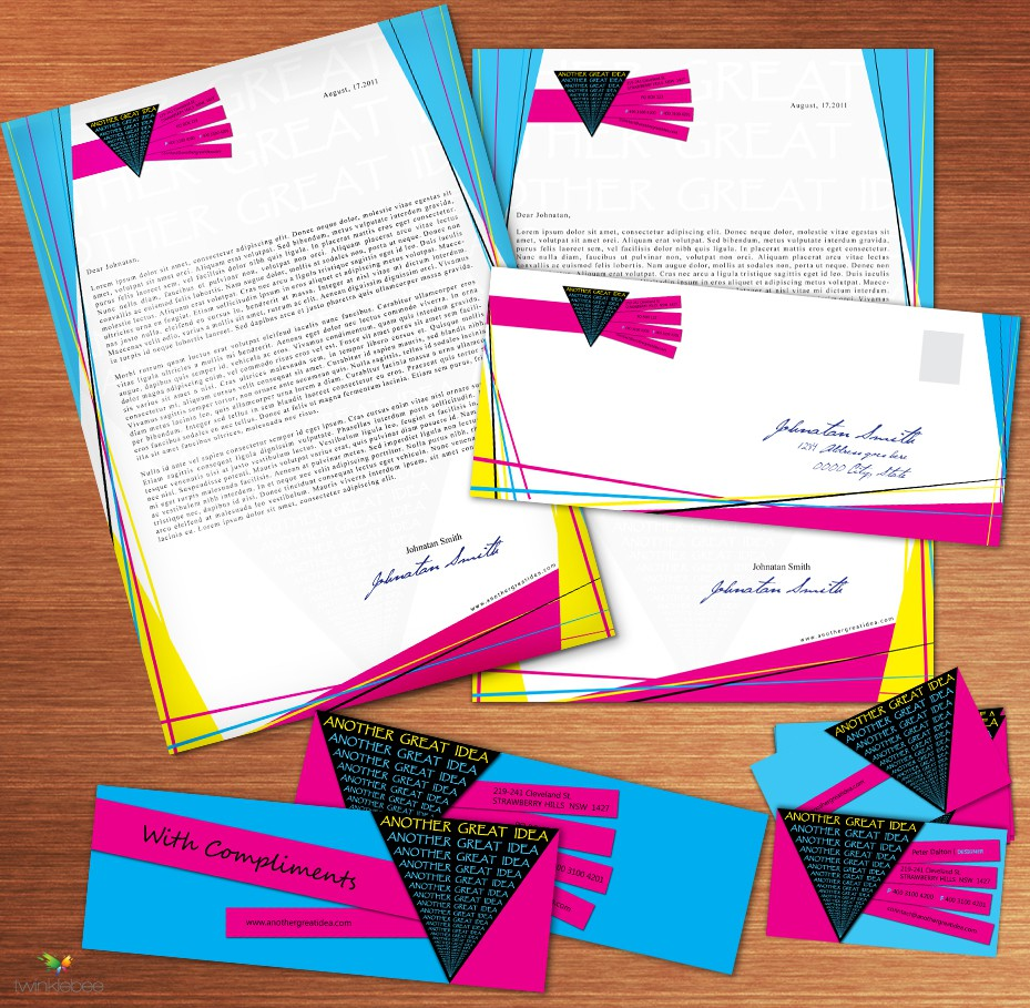 stationery for Another Great Idea Ltd