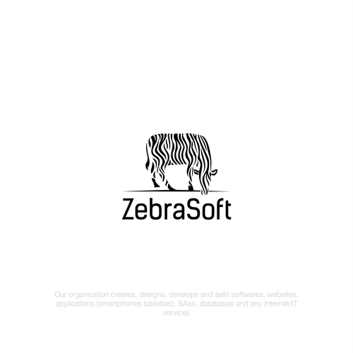 Logo design for Software company ZEBRASOFT