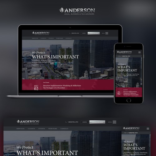 Law firm professional web design