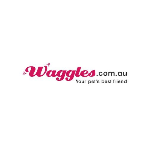 logo and business card for Waggles