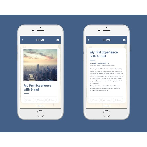 Article reading app