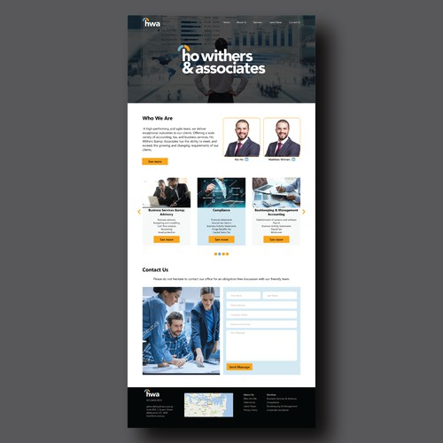 Professional accounting single-page website design
